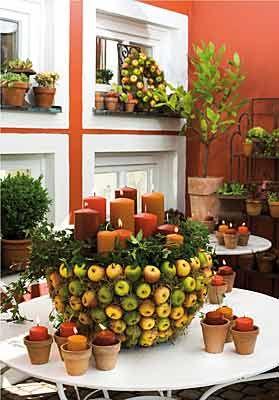 Herbstdeko selber machen (Quelle: Gütegemeinschaft Kerzen)
