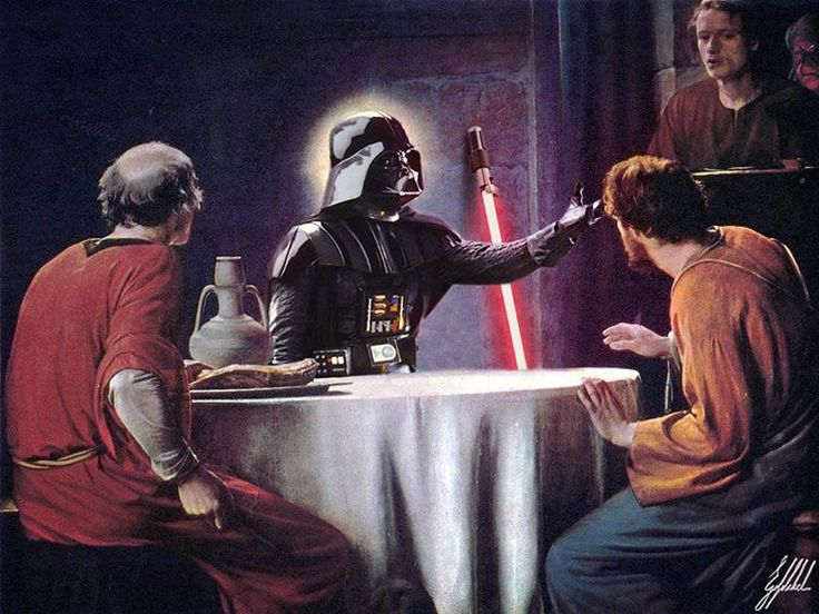 #starwars #darthvader #famous #painting #art #artwork #photomanipulation  What If Darth Vader supports you in your life.  Supper at Emmaus by Carl Heinrich Bloch.