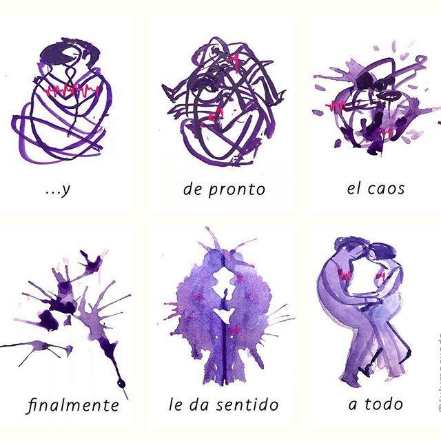 Sentido. #100daysofmotivationforillustration #100dayproject 31/100 . Es la continuación de la viñeta de ayer. #comic #historieta #gouache #instart #drawing #picsart #chaos #sexy #couple #lovers #illustration