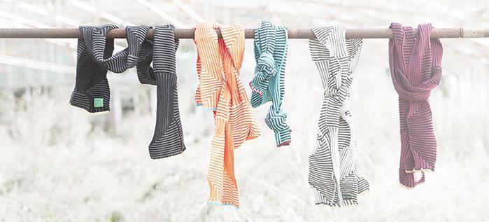 • Strikkede tørklæder / knitted scarf / wool and silk / made in denmark