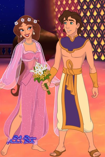 Jala and Alì: first night after their wedding by Topazio ~ Princess Jasmine dress up game