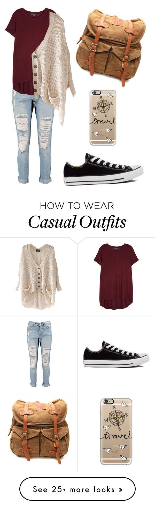 """""""Casual"""" by shakespeares-rose on Polyvore featuring VIPARO, Boohoo, Vince, Converse and Casetify"""