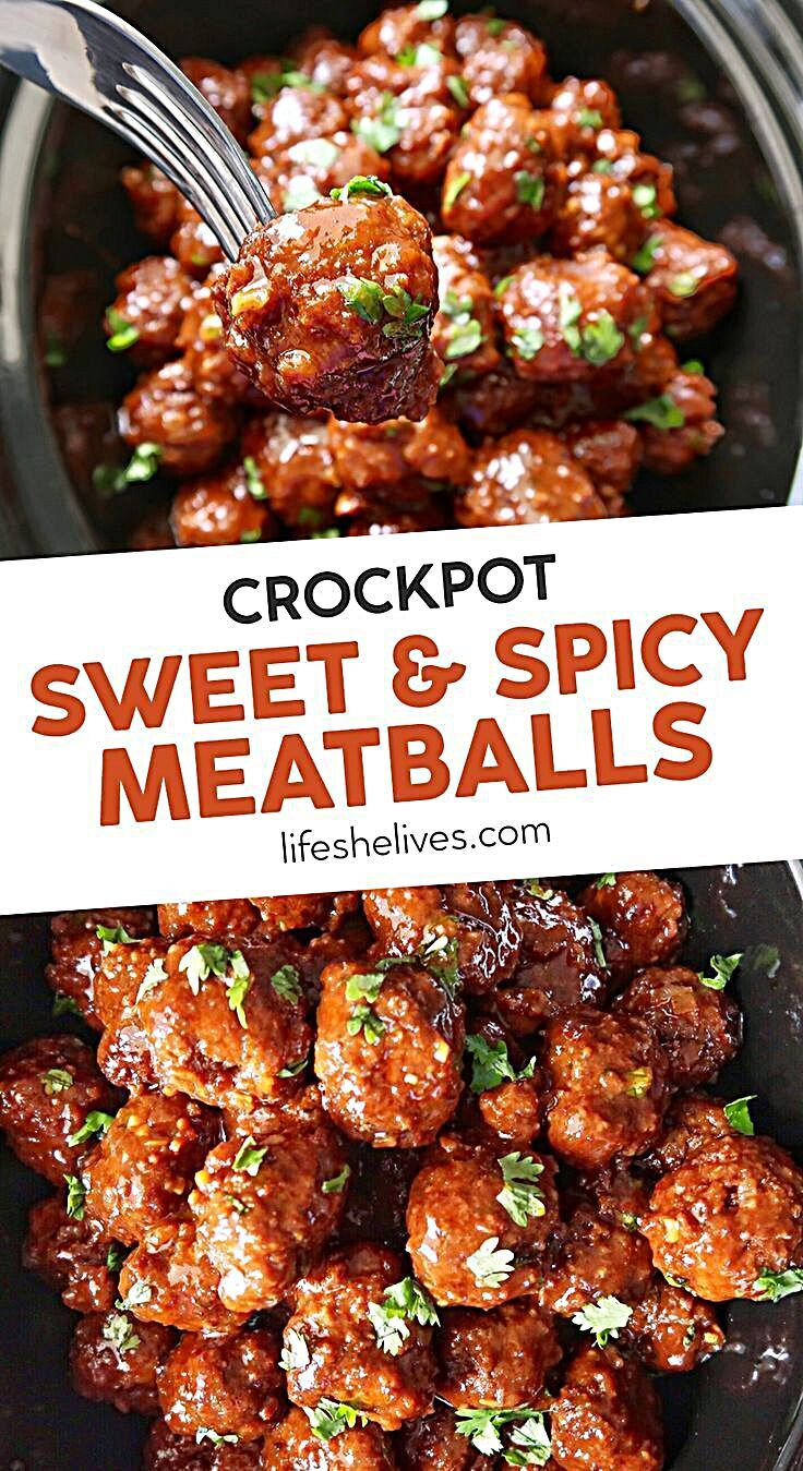 CrockPot Sweet and Spicy Meatballs Recipe in 2020 (With