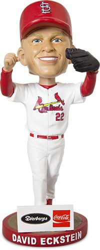 Calling all fans! Come watch the Cards take on the Pittsburgh Pirates on Saturday, October 1st. On this date 30,000 fans will go home with a bobblehead of 2006 World Series MVP David Eckstein, courtesy of Coca-Cola and Dierbergs!