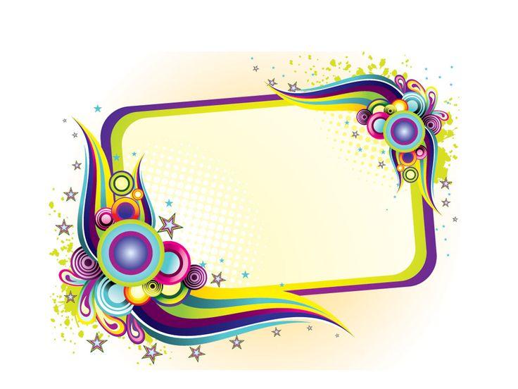 Colorful Frame Design PPT Backgrounds