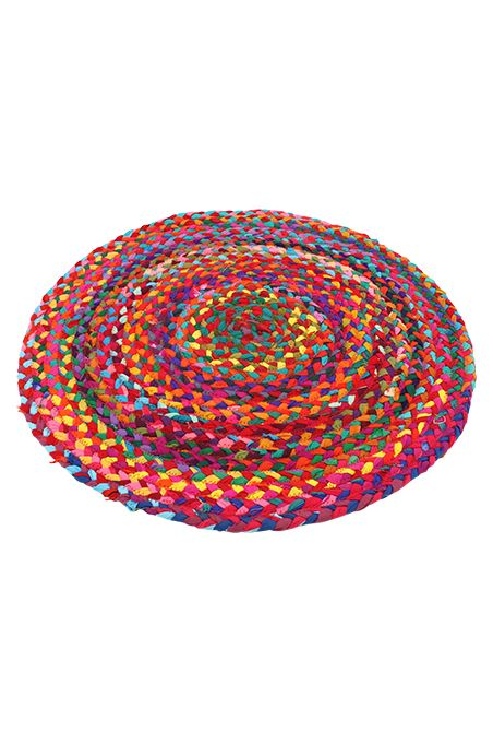 Rugs, Table Runners & Door Mats : Round Braided Cotton Rug - 200cm dia