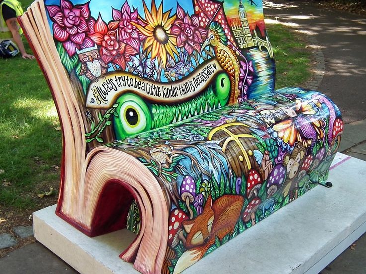 London's book benches – readers' photos