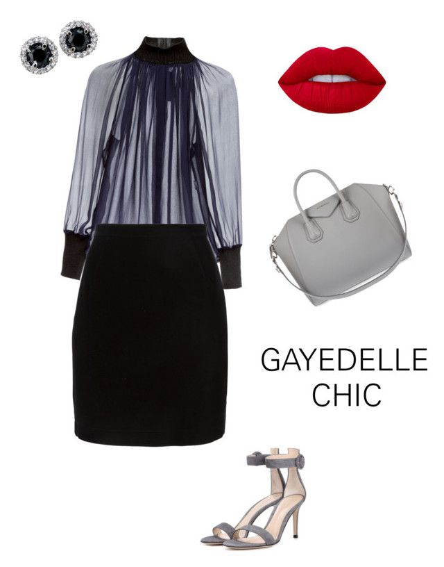 """""""Can't resist a good classic look"""" by diorlo on Polyvore featuring Martin Grant, Thierry Mugler, Gianvito Rossi, Givenchy and Lime Crime"""