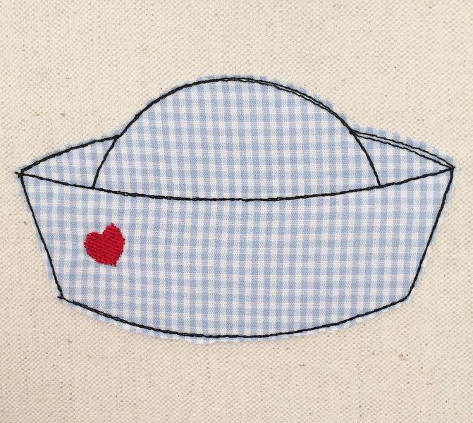 Stickmuster - Matrosenmütze Doodle Stickdatei - ein Designerstück von…
