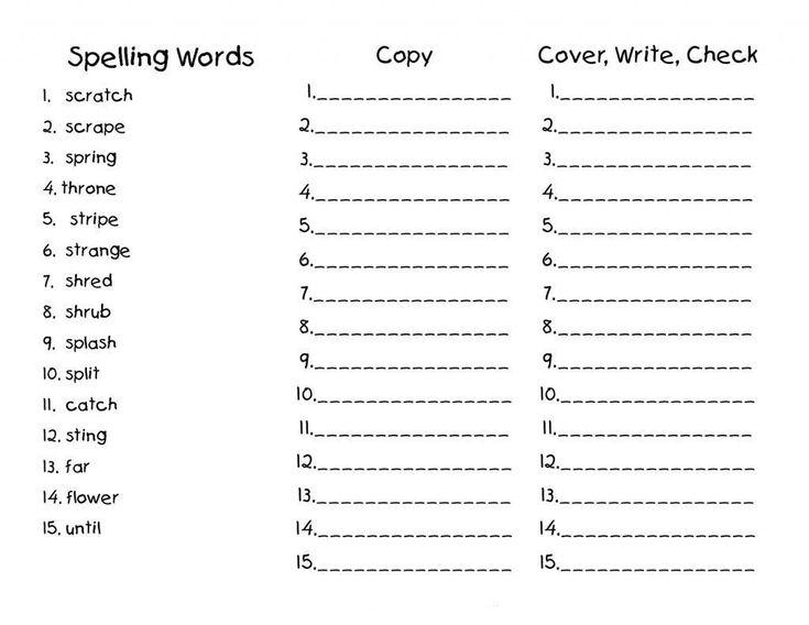 6th Grade Spelling Worksheets 2nd Grade Spelling