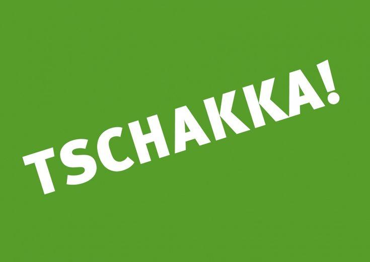 Tschakka! (grün) | Motivation | Echte Postkarten online versenden…