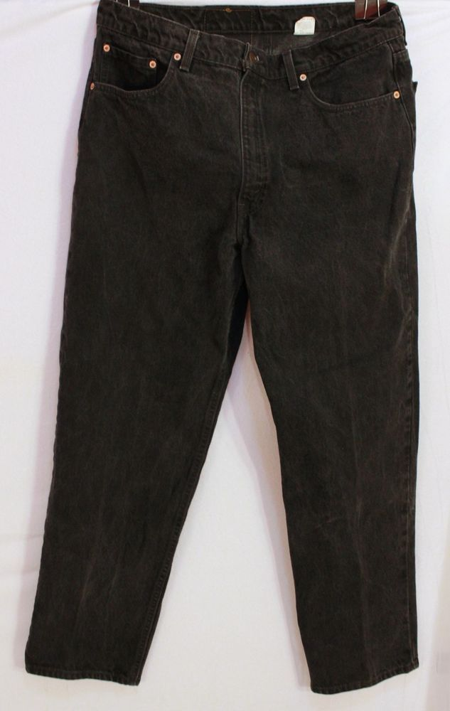 Levi's 550 Jeans Mens 40 X 32 Relaxed Fit Red Tab Made in USA Black Levi  #Levis #Relaxed