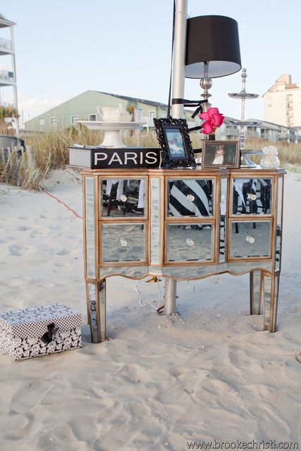 Love this idea of furniture at the beach #partyplanning