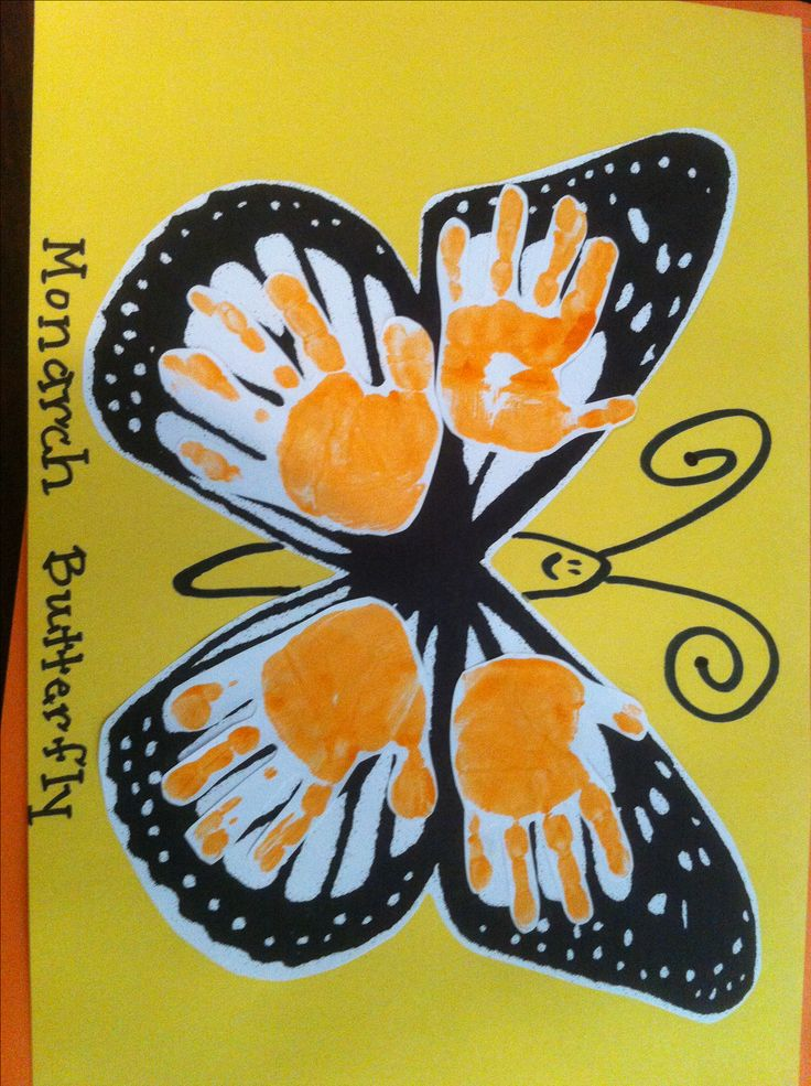17 best images about art creations on pinterest for Butterfly hands craft
