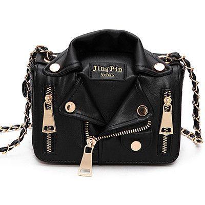 Creative Jacket Punk Style Women Crossbody Bags Rivet Metal Chain Organizer Messenger Single Shoulder Bags bolsos mujer de cuero
