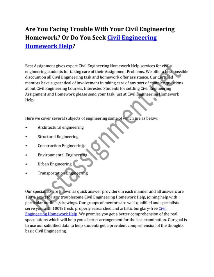Are you facing trouble with your civil engineering homework