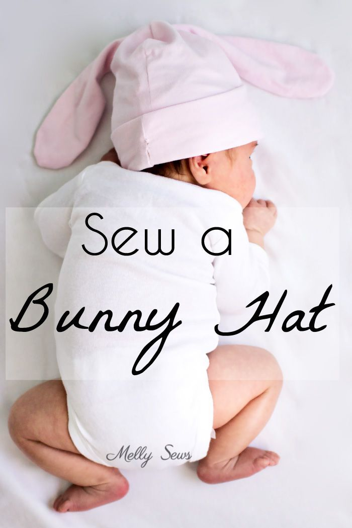 Sew a bunny hat for a baby up to an adult with this easy tutorial and pattern.