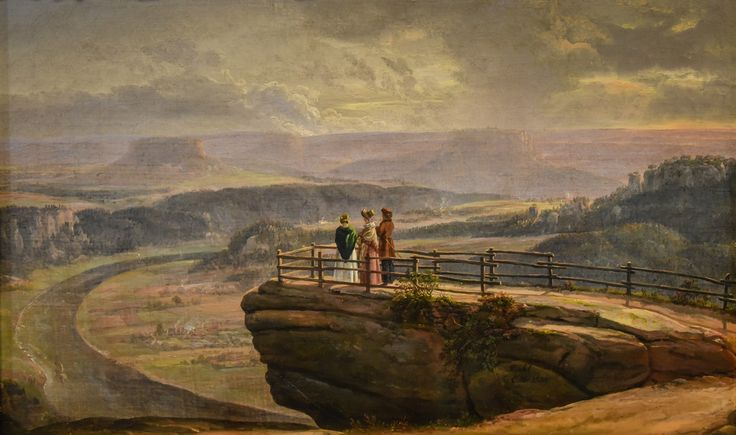 Johan Christian Dahl - View from Bastei, 1819 at National Museum of Art Oslo Norway