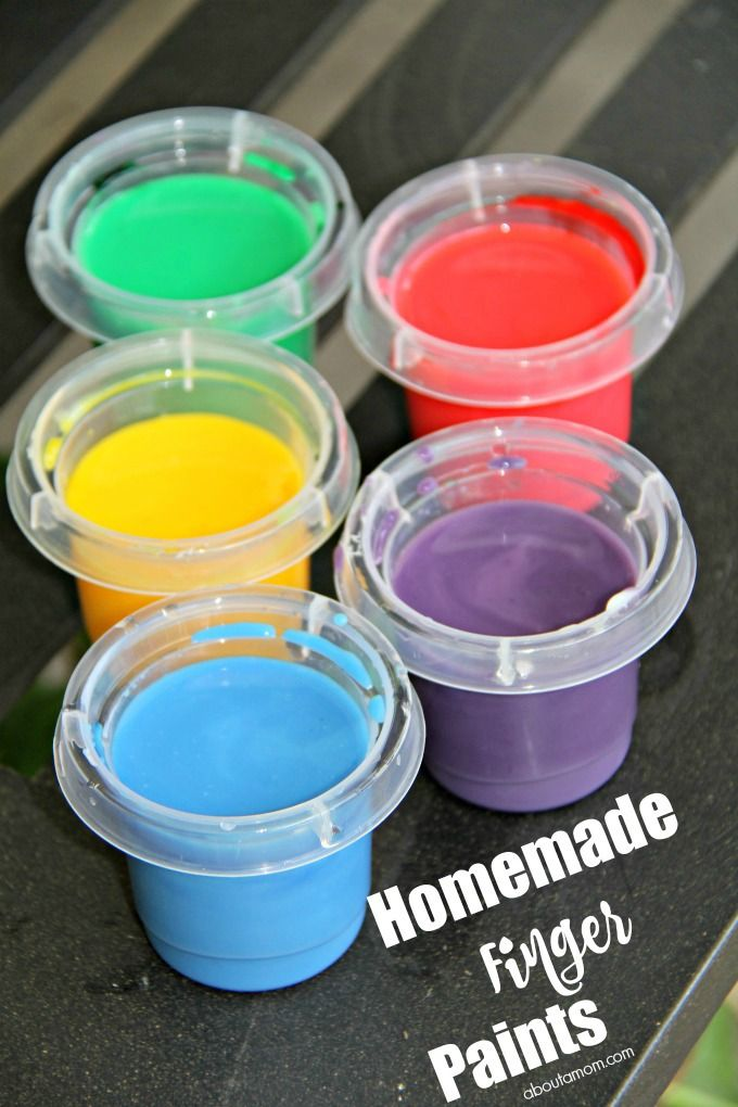 Homemade Finger Paints And How To Clean Up Afterwards