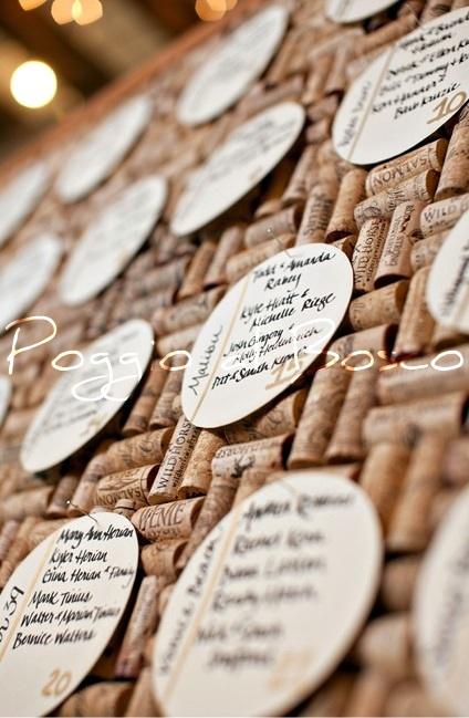 Tableau de Mariage with corks