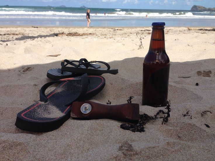 Our reclaimed Imbuia bottle opener is perfect for drinks on the beach. Ayke & WhatNot