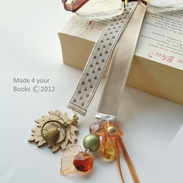 Autumn Fall ribbon bookmark by Made 4 your Books - Folksy