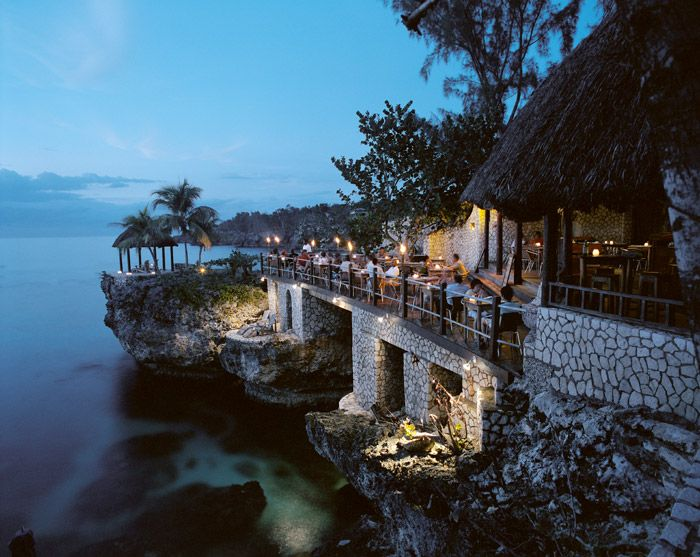 The Cliff Restaurant, Barbados.  It was to die for!