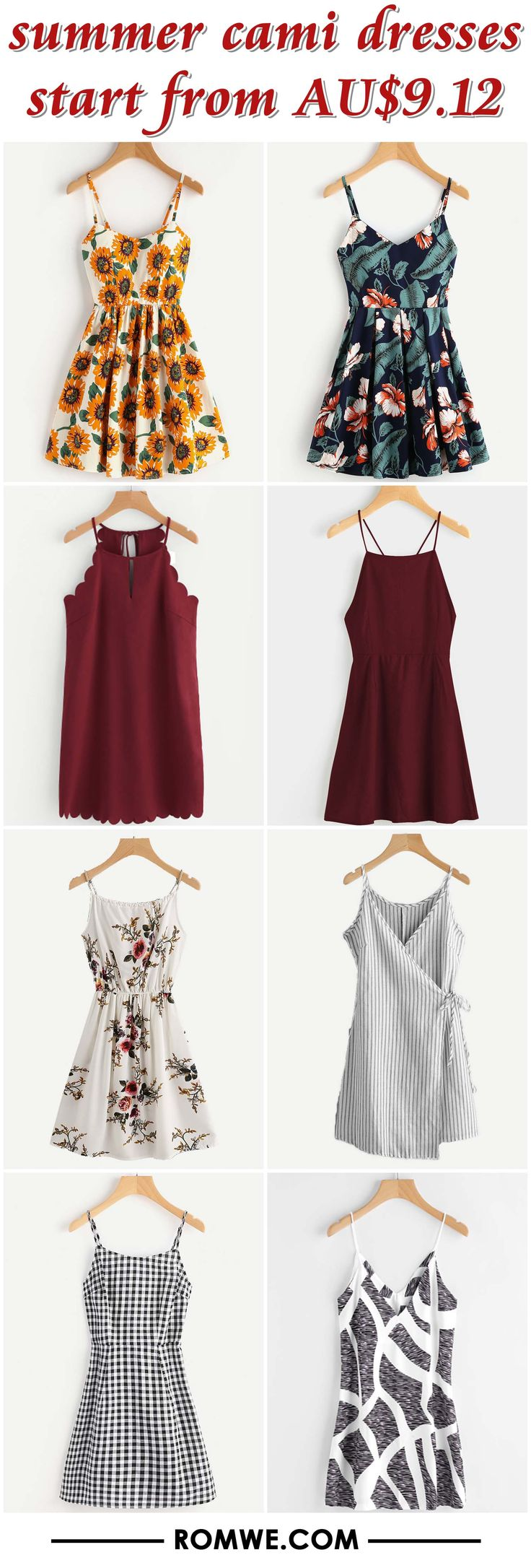 summer cami dresses from AU$9.12