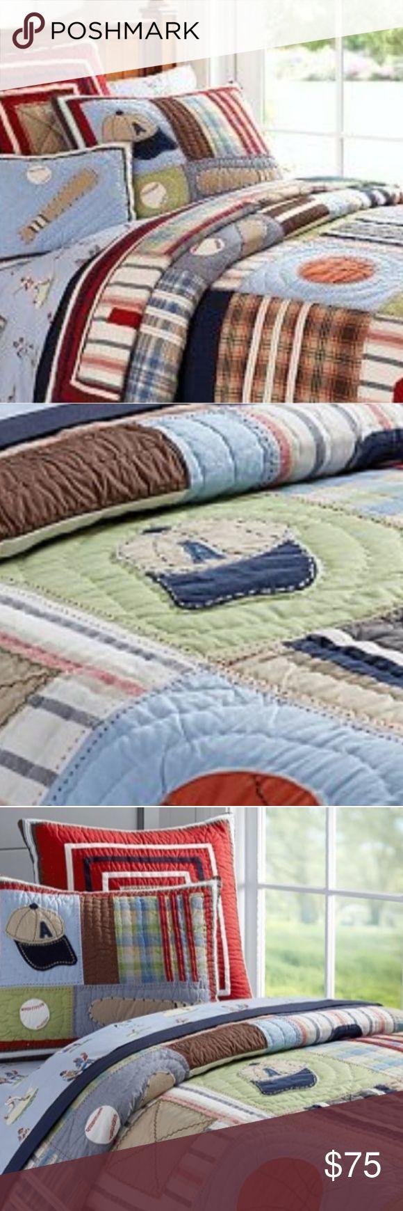 Pottery Barn twin comforter set Smokefree home comes with