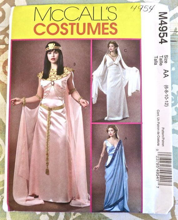 Mccall S 3514 Greek Roman Gown Toga Costume Sewing Pattern: 17 Best Images About Costume Sewing Patterns On Pinterest