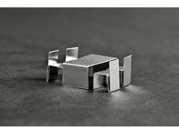Juego de muebles para maquetas, de aluminio, 1: