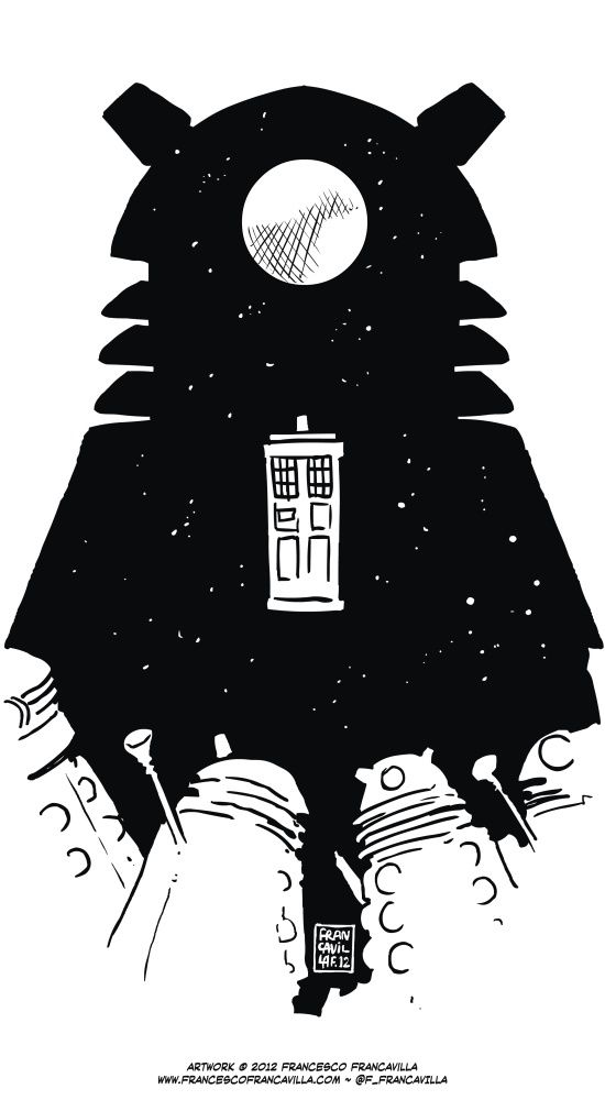 """Asylum of the Daleks"" by Francesco Francavilla."