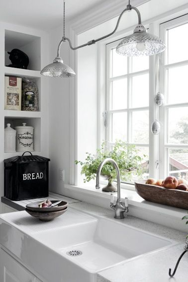 I want a window over my main kitchen sink..looking out into the back yard! Except use the Moen® Lancelot® Kitchen Sink please! #PSDreamKitchen