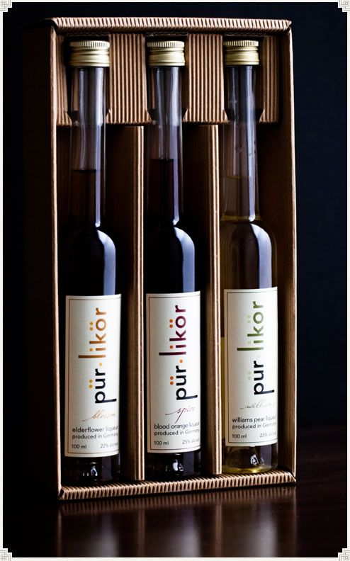 pür•likör three bottle gift set