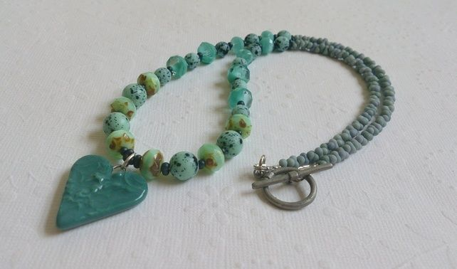 teal heart necklace £20.00