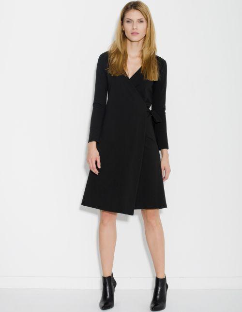 Sukienka kopertowa ORIENT EXPRESS czarna