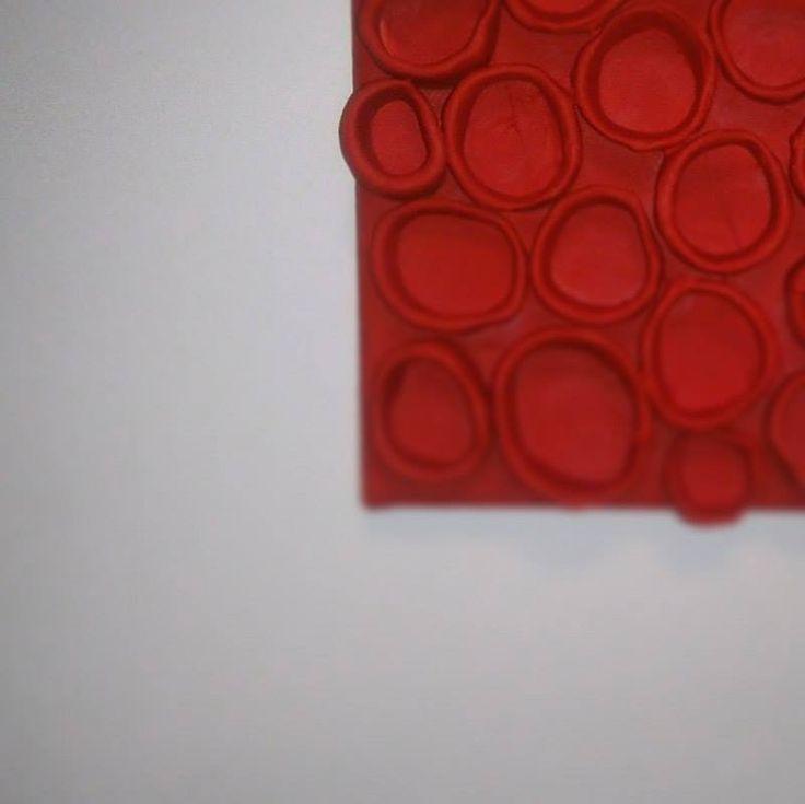 detailshot κόκκινο collection acrylic colours,ceramics 2016