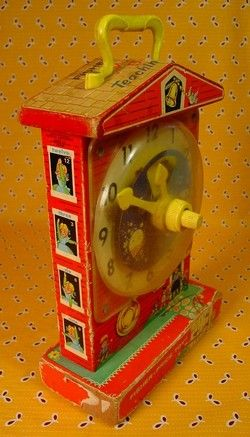Fisher Price Clock.: Blast, Childhood Memories, Play, Grandfathers Clock, Vintage Toys, Childhood Toys, My Sister, Kids Toys