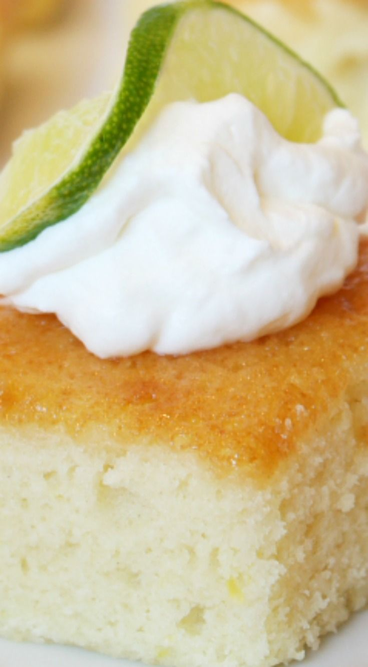 Margarita Cake Recipe ~ Here's a delicious Mexican-style cake that doesn't start with a cake mix... It is a nice, light cake with a touch of margarita flavor on top.