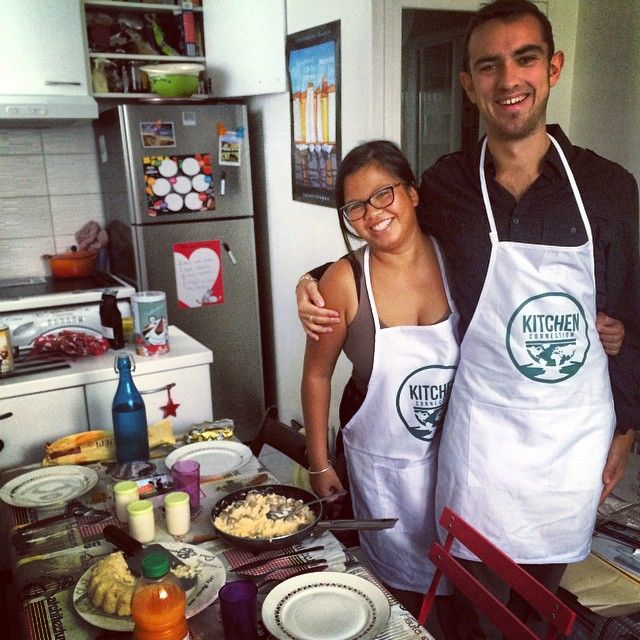 In the spotlight: Aurore and Pierre are two of our favorite cheffies on Kitchen Connection. They love to cook incredibly authentic meals on the regular, using local and affordably-priced ingredients. Paris, France is a great place for this! #cheffies #paris #france #kitchenconnection #french #affordable #local #healthy #yummy #kitchenconnection.org #wherefoodlinkstheworld