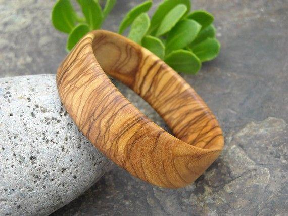 Bangle olive wood Bracelet wooden jewelry alentejoazul olive
