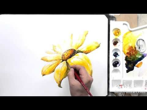 How to paint the flower by Um KyungHo - YouTube
