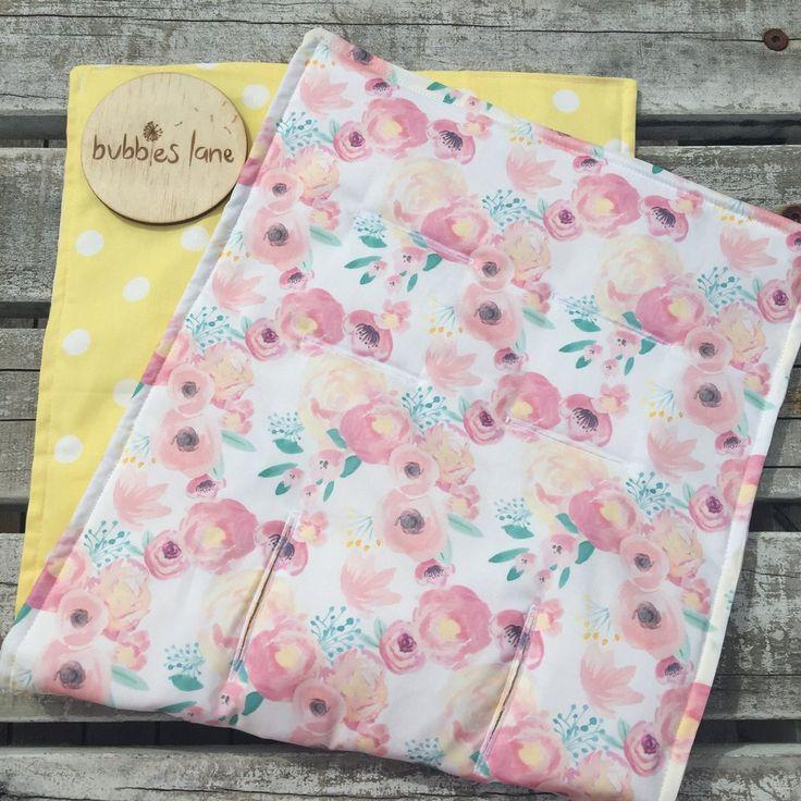 Blush/pink/lemon floral pram liner