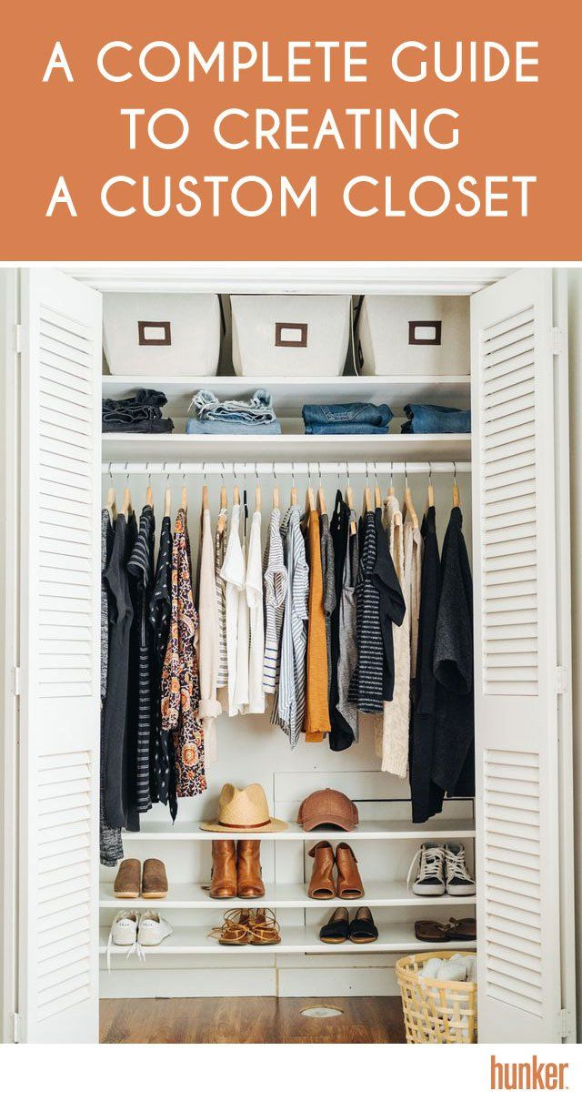 e0caf595a3471 A Complete Guide To Creating a Custom Closet | Small Spaces | Shoe ...