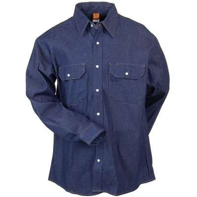 AND ON AUTOMOTIVE WORKWEAR------Big Ben SD78DN Utility Denim Western Shirt-Blue Denim