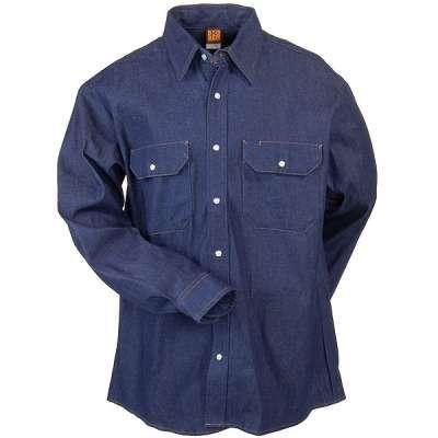 AND ON AUTOMOTIVE WORKWEAR------Big Ben SD78DN Utility Denim Western Shirt-Blue Denim