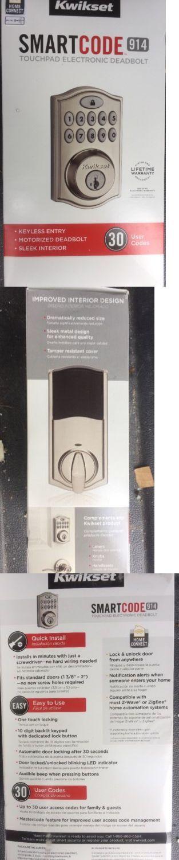 Other Home Automation: New Kwikset Smartcode 914 Zigbee Z-Wave Deadbolt, Satin Nickel 914Trl Zb -> BUY IT NOW ONLY: $70 on eBay!