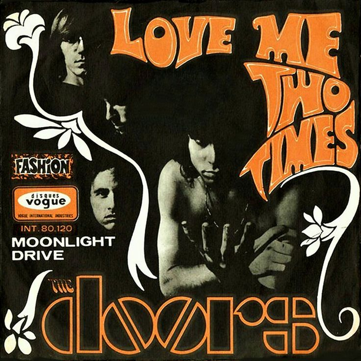 The Doors, 'Love Me Two Times' - 1967 French record sleeve