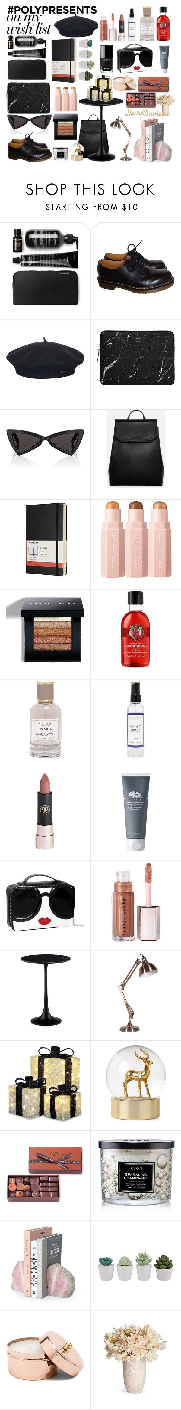"""""""#PolyPresents: Wish List"""" by deadbeat-horn on Polyvore featuring Dr. Martens, Element, Yves Saint Laurent, CHARLES & KEITH, Moleskine, Bobbi Brown Cosmetics, Henri Bendel, The Laundress, Anastasia Beverly Hills and La Maison Du Chocolat"""