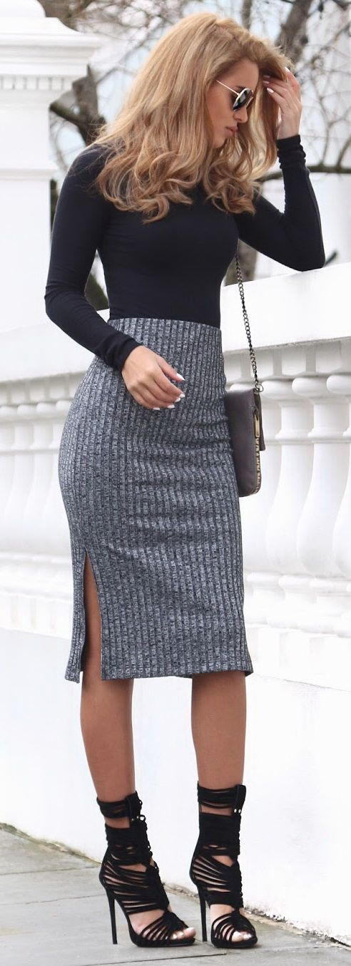Ribbed Turtle Neck - Missguided